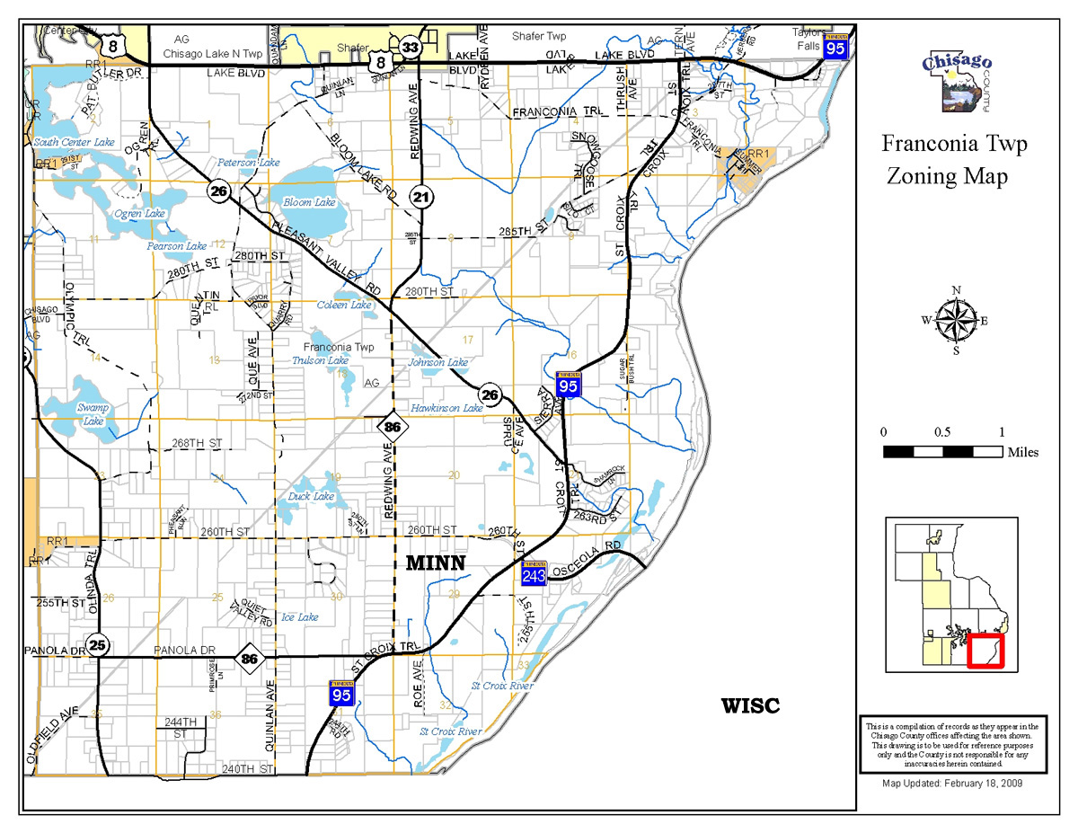 Franconia Township, Minnesota, Town of Franconia, Minnesota, Chisago on